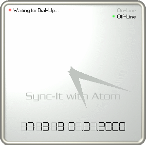 Sync-It with Atom - Synchronizes system time.
